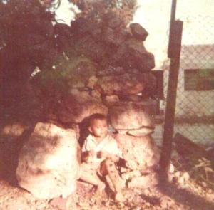 En la casa del rumbo de Sapo, cerca de la Ex-Estación Central de Trenes, en Mérida, Yuc.